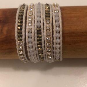 Chan Luu 5-Wrap Crystal bracelet New!